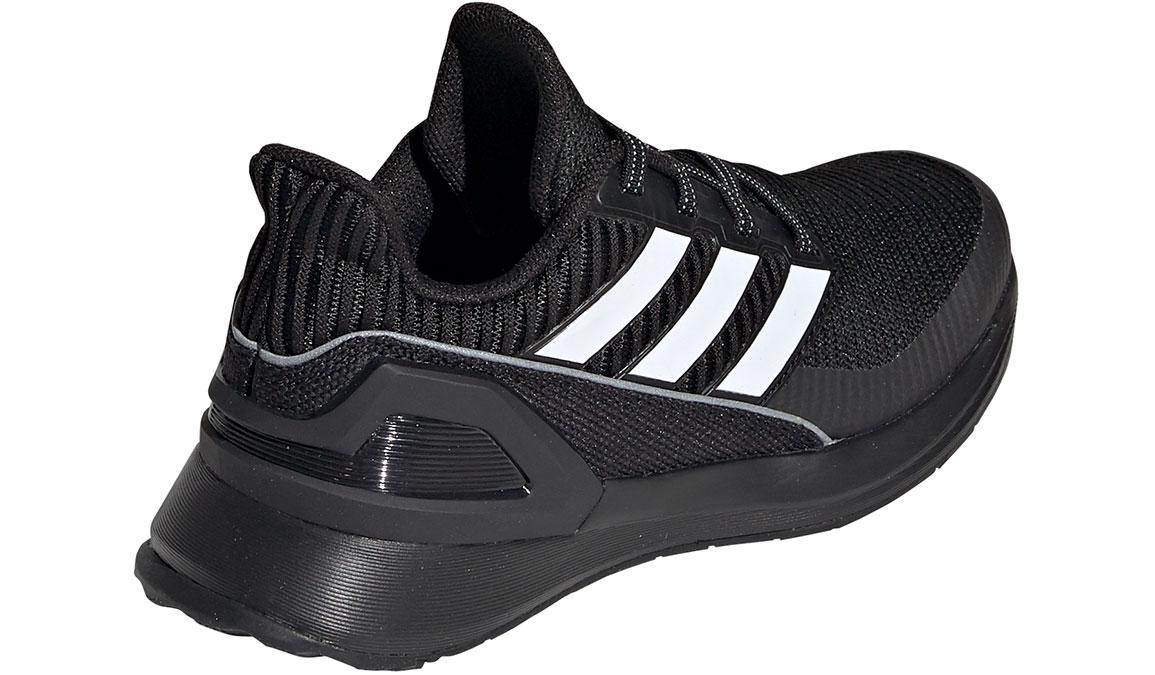 Kid's Adidas Preschool RapidaRun Knit Running Shoe - Color: Black/White (Regular Width) - Size: 1, Black/White, large, image 3