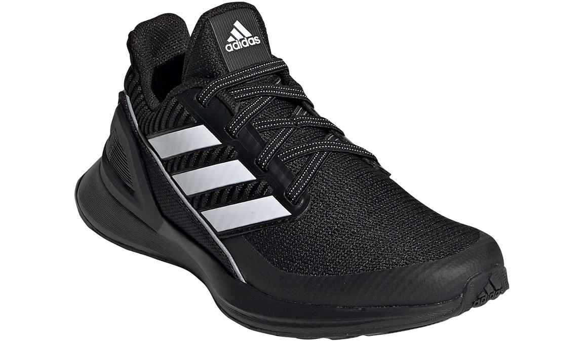 Kid's Adidas Preschool RapidaRun Knit Running Shoe - Color: Black/White (Regular Width) - Size: 1, Black/White, large, image 4