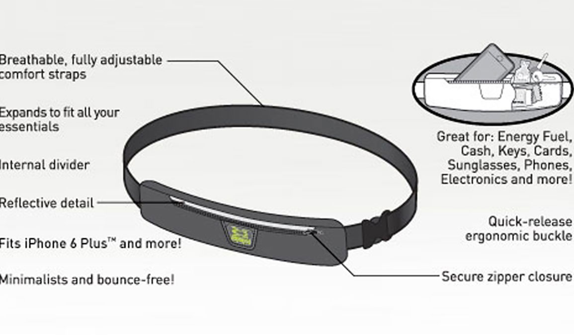 Amphipod AirFlow MicroStretch Plus Belt - Color: Black - Size: One Size, Black, large, image 2