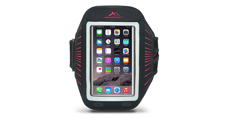 Unisex Armpocket Racer Sport Arm Band - Color: Black/Pink - Size: M, Black/Pink, large, image 1