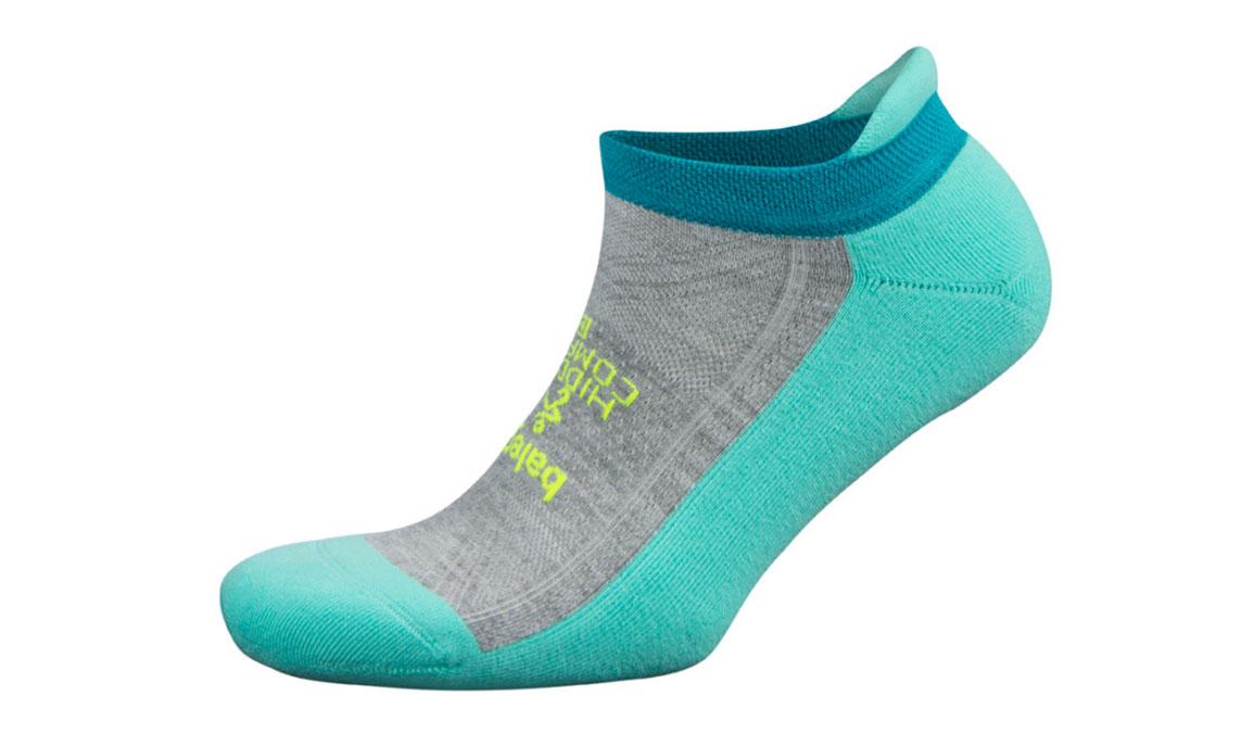 Balega Hidden Comfort No Show Socks - Color: Aqua/Grey Size: S, Aqua, large, image 1