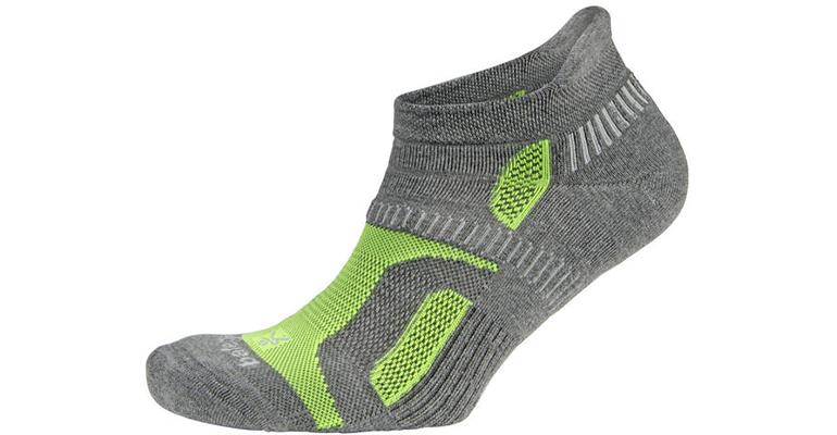 Balega Hidden Contour Sock - Color: Charcoal/Green - Size: S, Charcoal, large, image 1