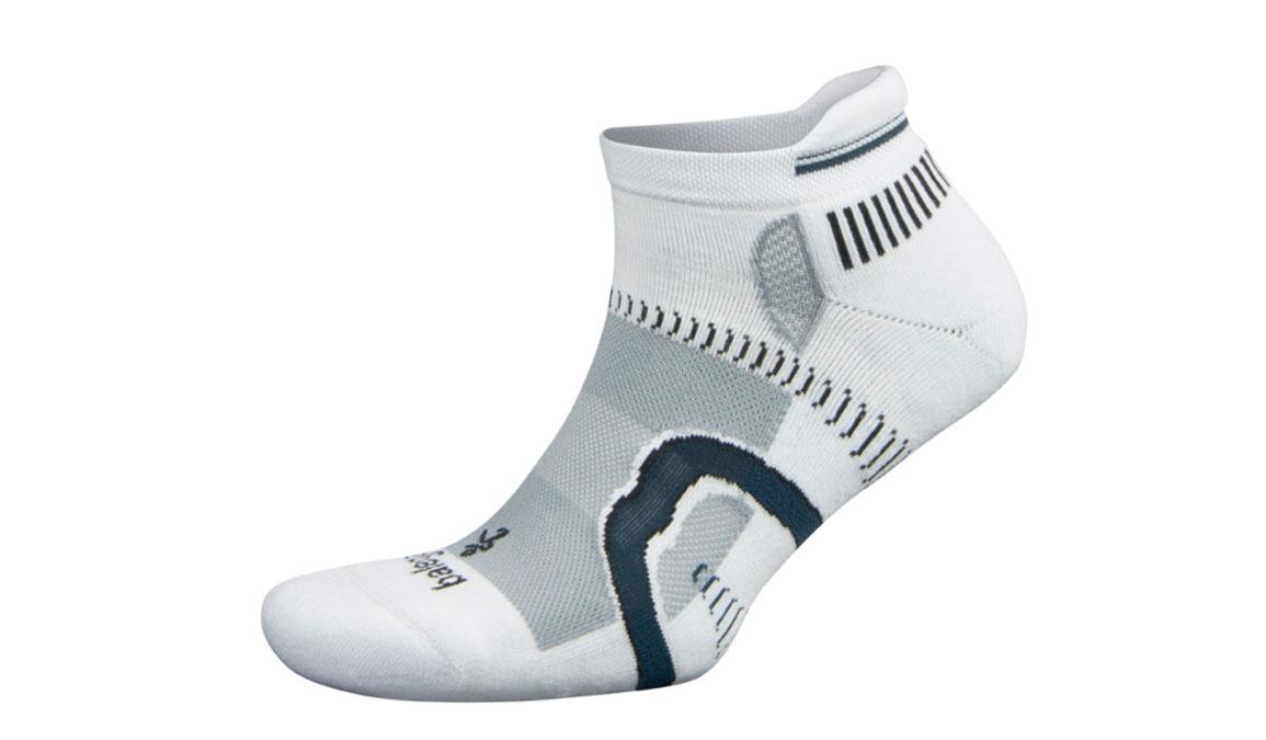 Balega Hidden Contour Socks - Color: White/Grey Size: S, White/Grey, large, image 1