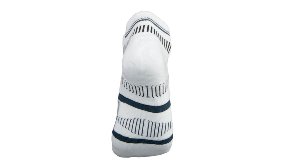 Balega Hidden Contour Socks - Color: White/Grey Size: S, White/Grey, large, image 3