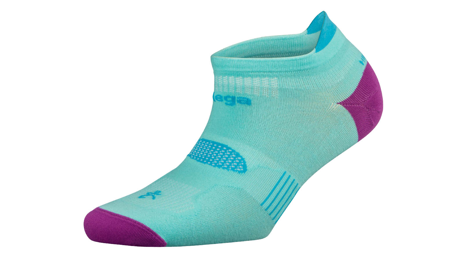 Balega Hidden Dry 2 Sock - Color: Light Aqua/Pinkberry Size: L, Light Aqua, large, image 1