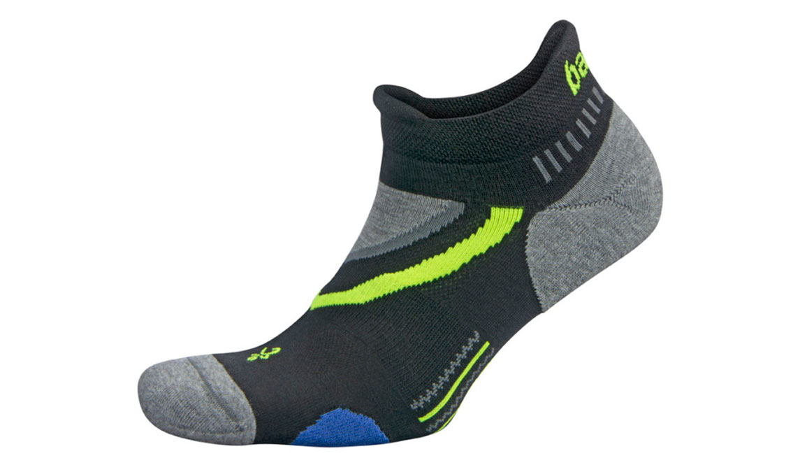 Balega UltraGlide No Show Socks - Color: Black/Charcoal Size: XL, Black/Grey, large, image 1