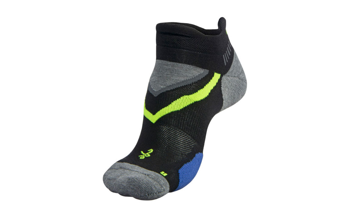 Balega UltraGlide No Show Socks - Color: Black/Charcoal Size: XL, Black/Grey, large, image 2