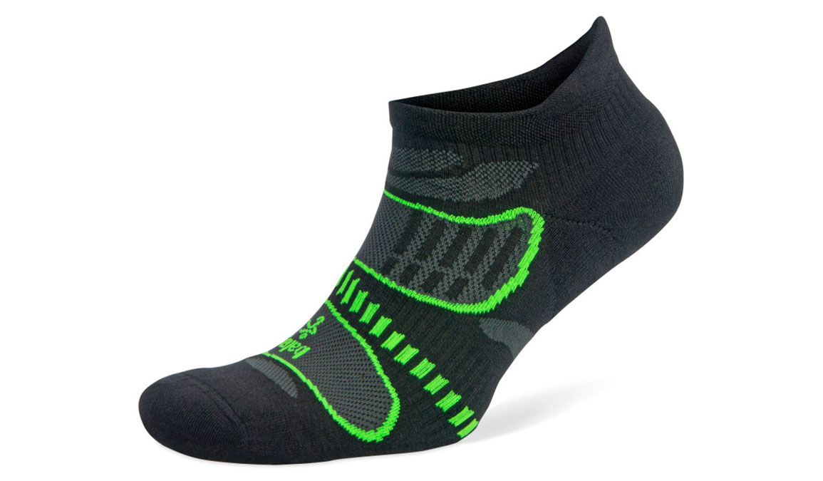 Balega Ultra Light No Show Sock - Color: Black/Lime Size: XL, Black/Lime, large, image 1