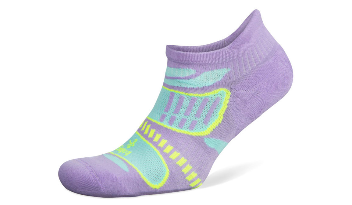 Balega Ultra Light No Show Sock - Color: Lilac/Aqua Size: M, Lilac, large, image 1