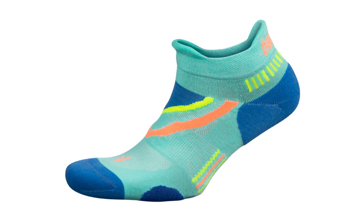 Unisex Balega UltraGlide No Show Socks - Color: Light Aqua/French Blue Size: S, Aqua, large, image 1