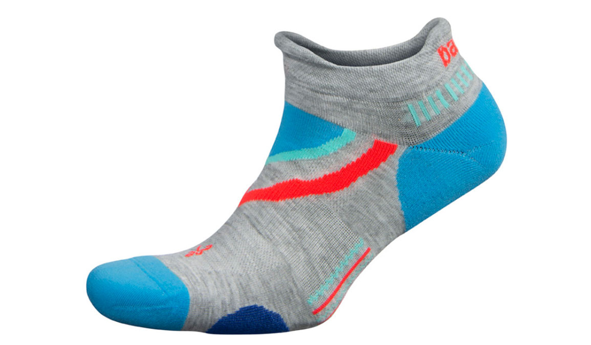 Balega UltraGlide No Show Socks - Color: Mid Grey/Ethereal Blue Size: S, Grey/Blue, large, image 1