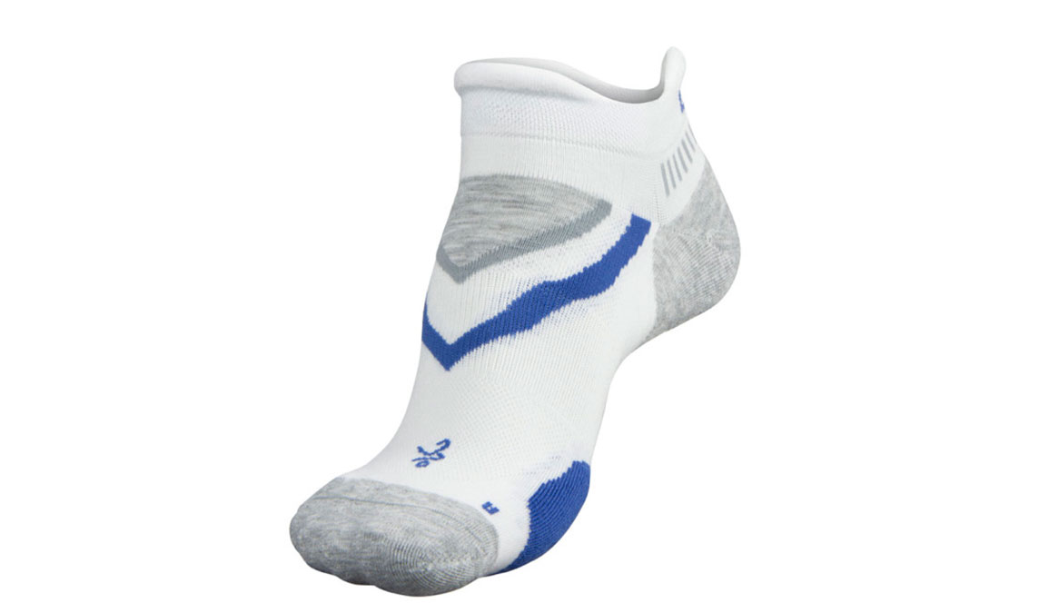 Balega UltraGlide No Show Socks - Color: White/Mid Grey Size: XL, White/Grey, large, image 2