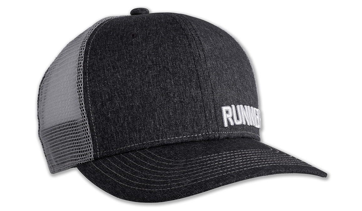 Brooks Discovery Trucker Hat - Color: Heather Black Size: OS, Heather Black, large, image 2