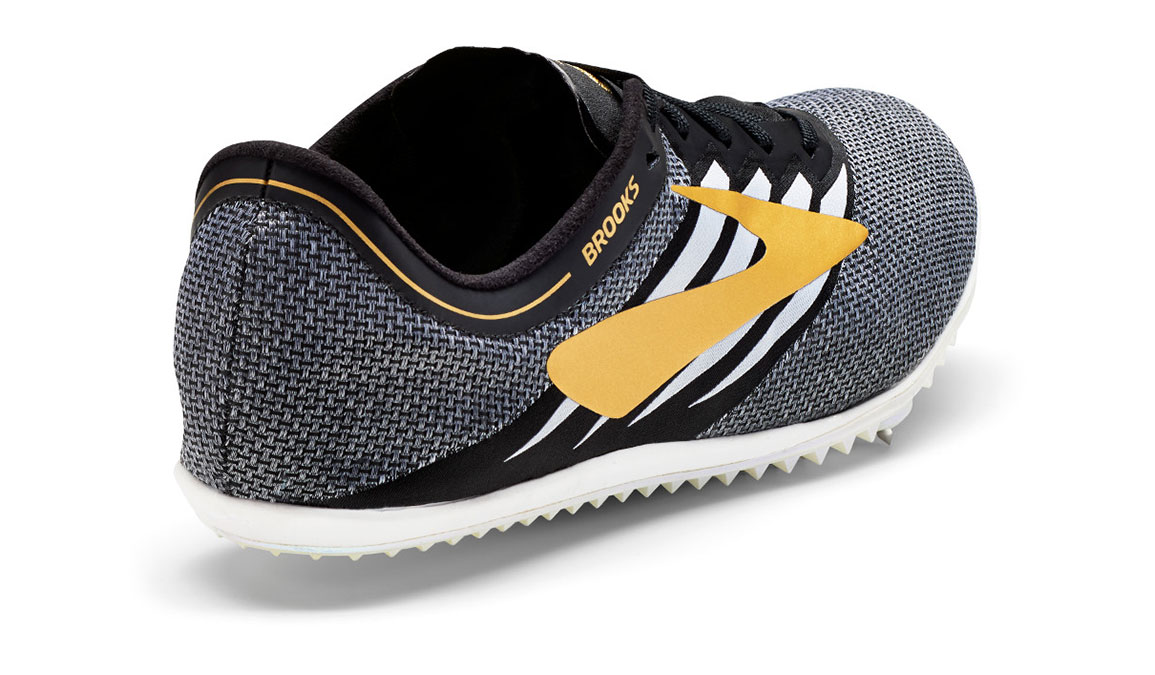 Brooks ELMN8 v4 Track Spike - Color: Black/Gold/White (Regular Width) - Size: 5, Black/Gold, large, image 2