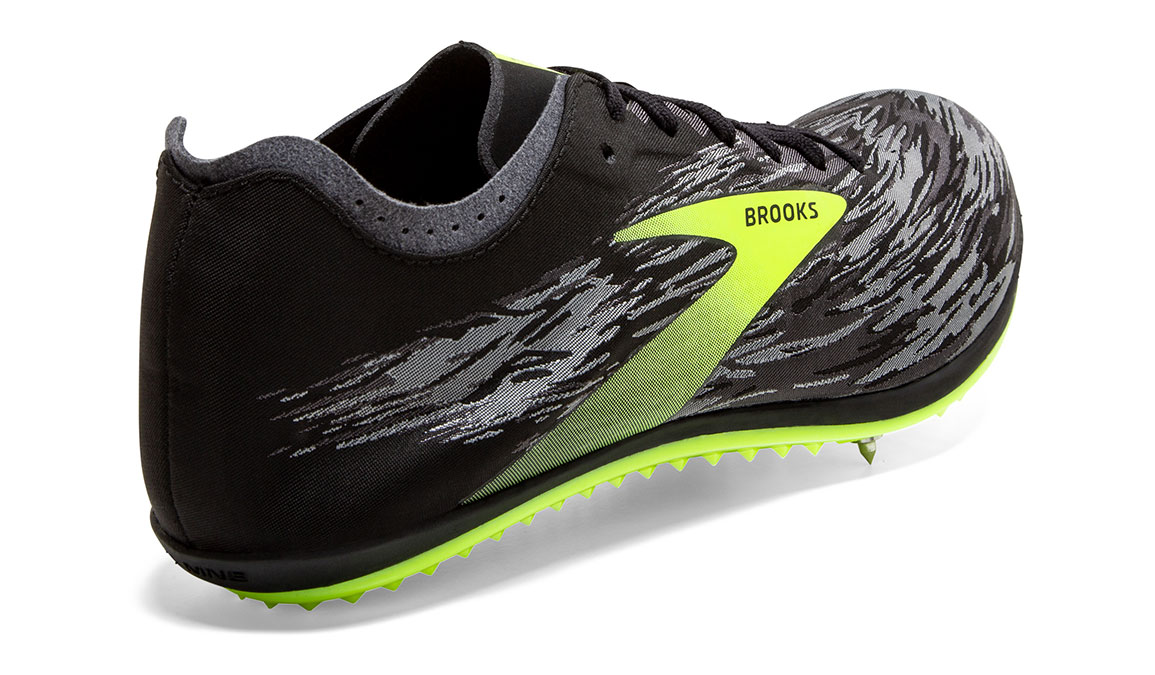 Brooks ELMN8 V5 Track Spikes - Color: Black/Grey/Nightlife (Regular Width) - Size: 12.5, Black/Grey, large, image 3