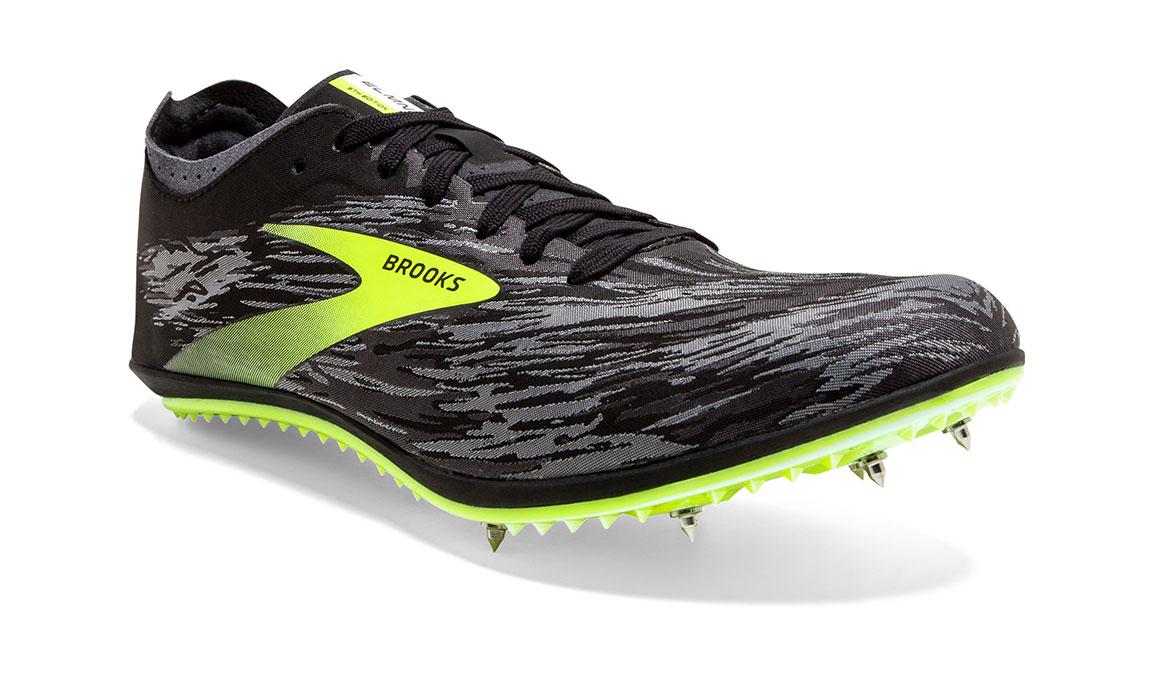 Brooks ELMN8 V5 Track Spikes - Color: Black/Grey/Nightlife (Regular Width) - Size: 12.5, Black/Grey, large, image 4
