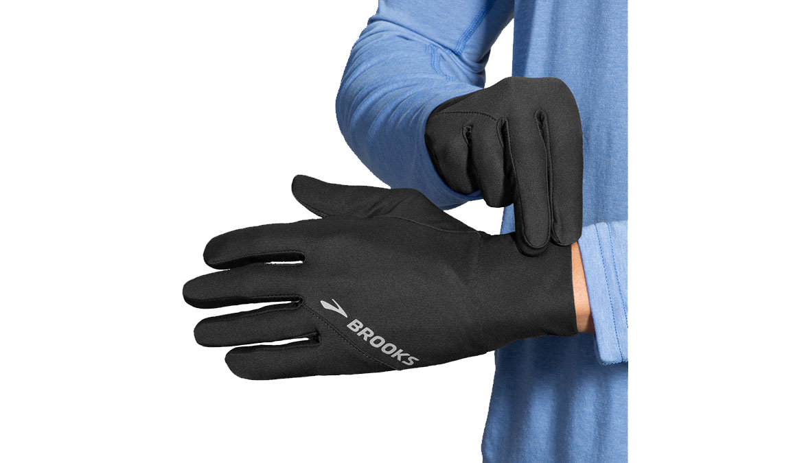 Brooks Greenlight Glove - Color: Black Size: L, Black, large, image 1