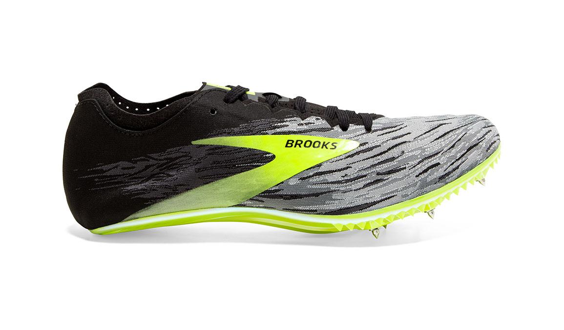 Brooks QW-K v4 Track Spikes - Color: Black/Grey/Nightlife (Regular Width) - Size: 6.5, Grey/Lime, large, image 1