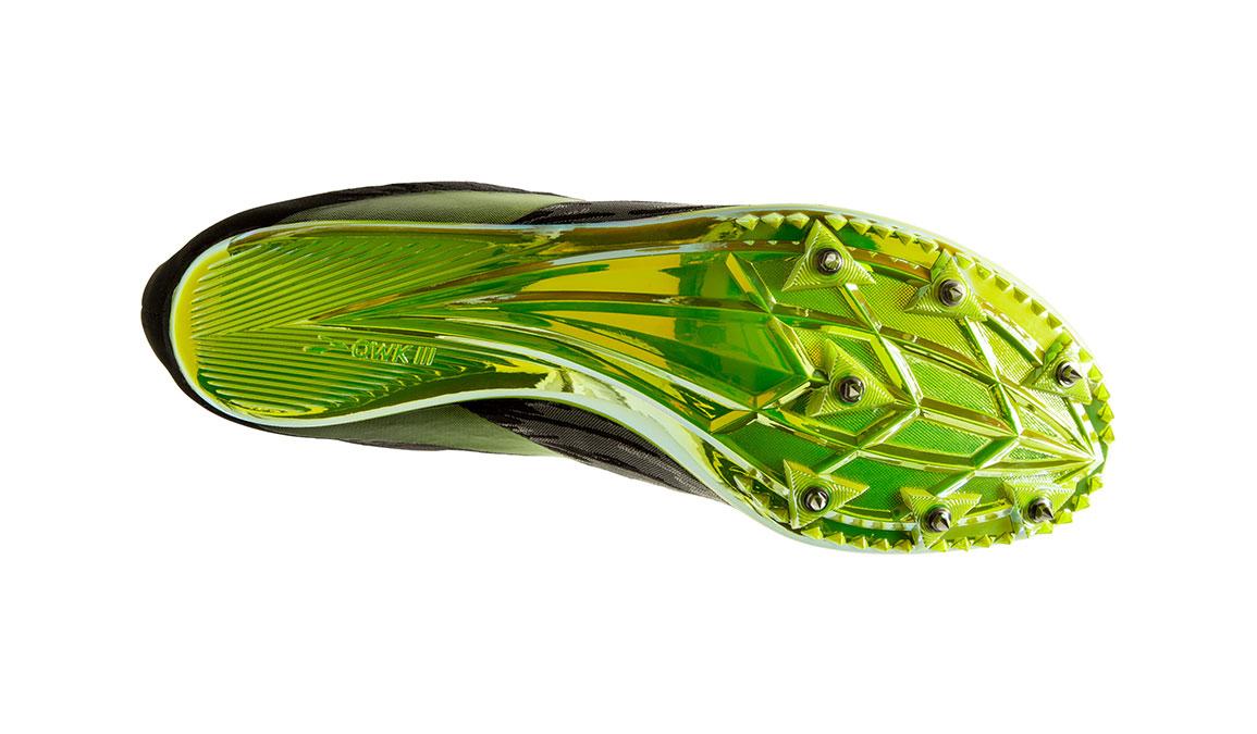 Brooks QW-K v4 Track Spikes - Color: Black/Grey/Nightlife (Regular Width) - Size: 6.5, Grey/Lime, large, image 3