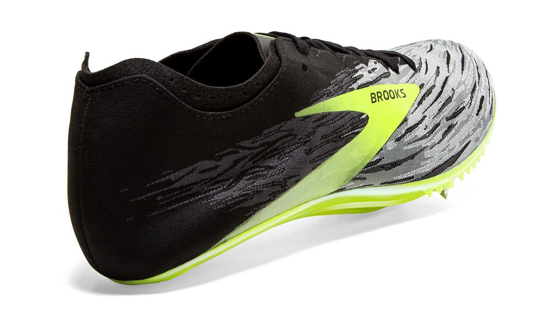 Brooks QW-K v4 Track Spikes - Color: Black/Grey/Nightlife (Regular Width) - Size: 6.5, Grey/Lime, large, image 4