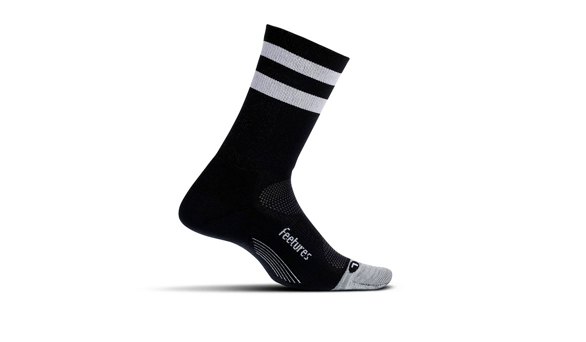 Feetures Elite Light Cushion Mini Crew Socks - Color: Black Size: S, Black, large, image 1