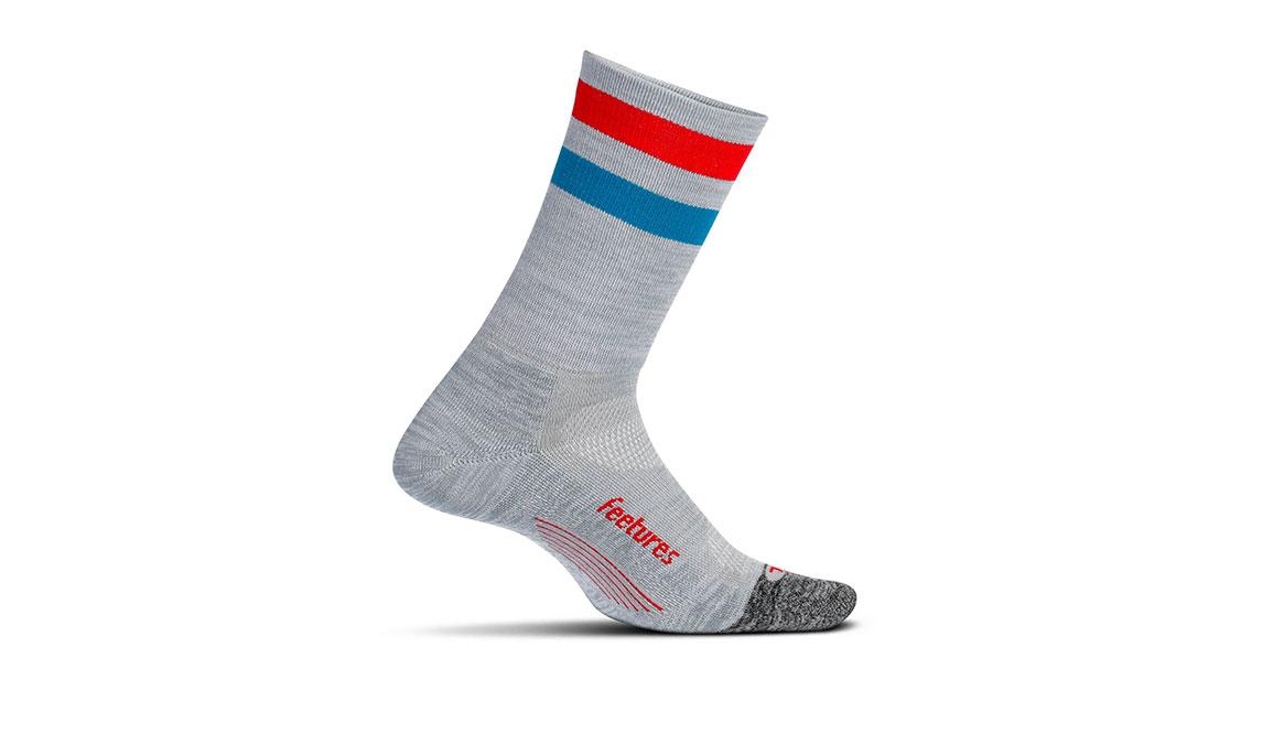 Feetures Elite Light Cushion Mini Crew Socks - Color: Grey Size: M, Grey, large, image 1