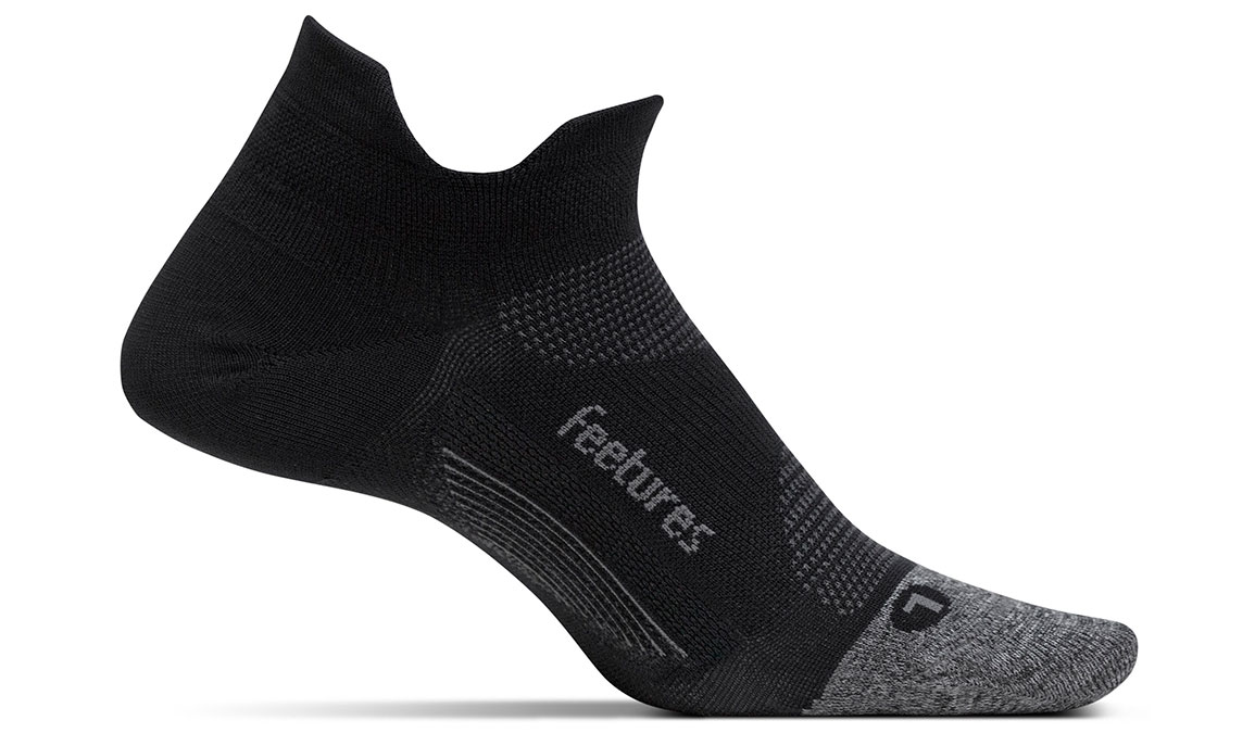 Feetures Elite Light Cushion No Show Tab Socks - Color: Black Size: S, Black, large, image 1