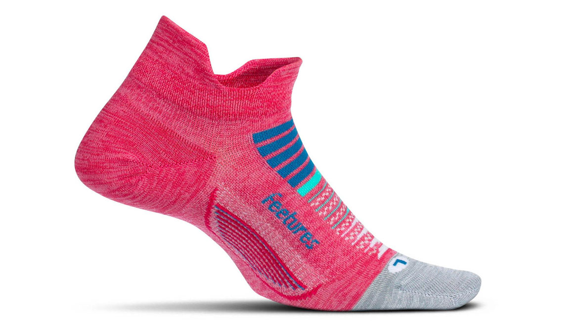 Feetures Elite Light Cushion No Show Tab Socks - Color: Quasar Pink Size: S, Pink/Pink, large, image 1