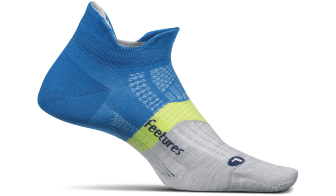 Feetures Elite Light Cushion No Show Tab Socks - Color: Summer Marine Size: L, Blue/Lime, large, image 1