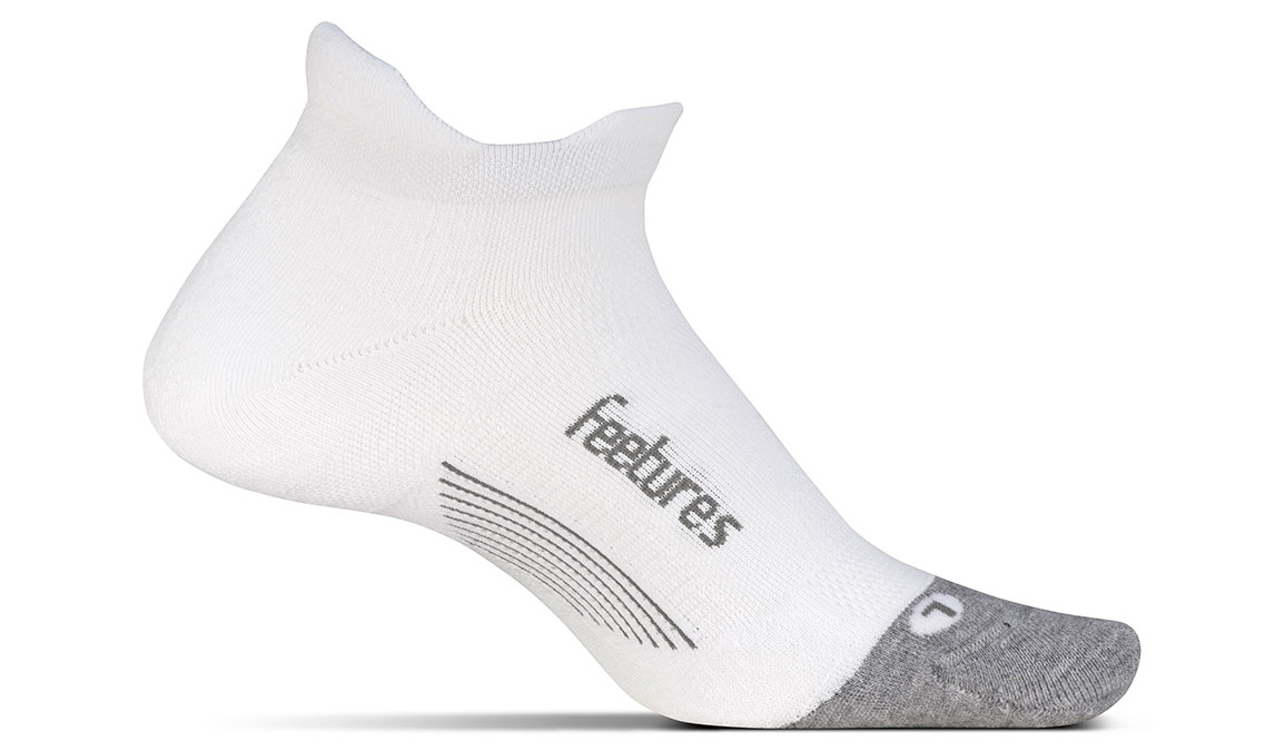 Feetures Elite Max Cushion No Show Tab Socks - Color: White Size: S, White, large, image 1