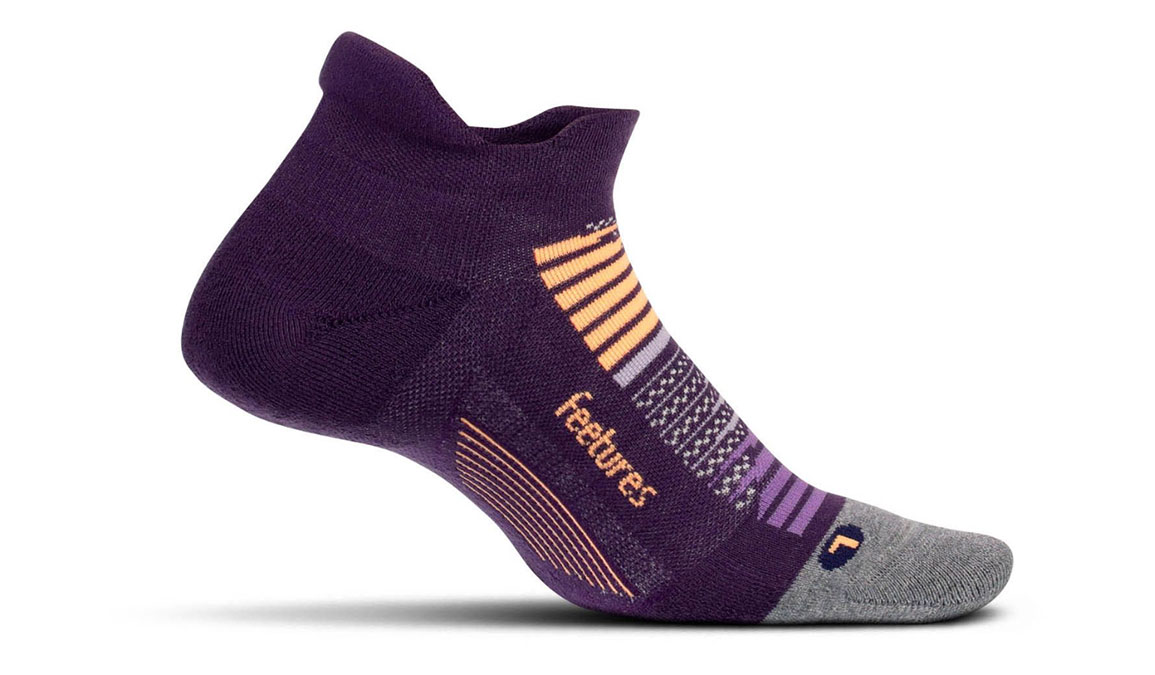 Feetures Elite Max Cushion No Show Tab Socks - Color: Purple Horizon Size: M, Purple, large, image 1