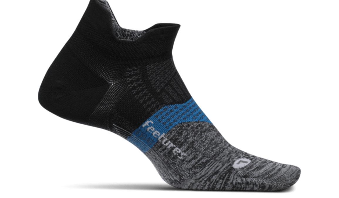 Feetures Elite Ultra Light No Show Tab Socks - Color: Iron Ore Size: S, Black/Grey, large, image 1