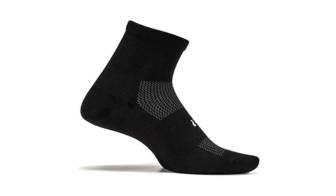 Feetures High Performance Ultra Light Quarter Sock - Color: Black Size: M, Black, large, image 1