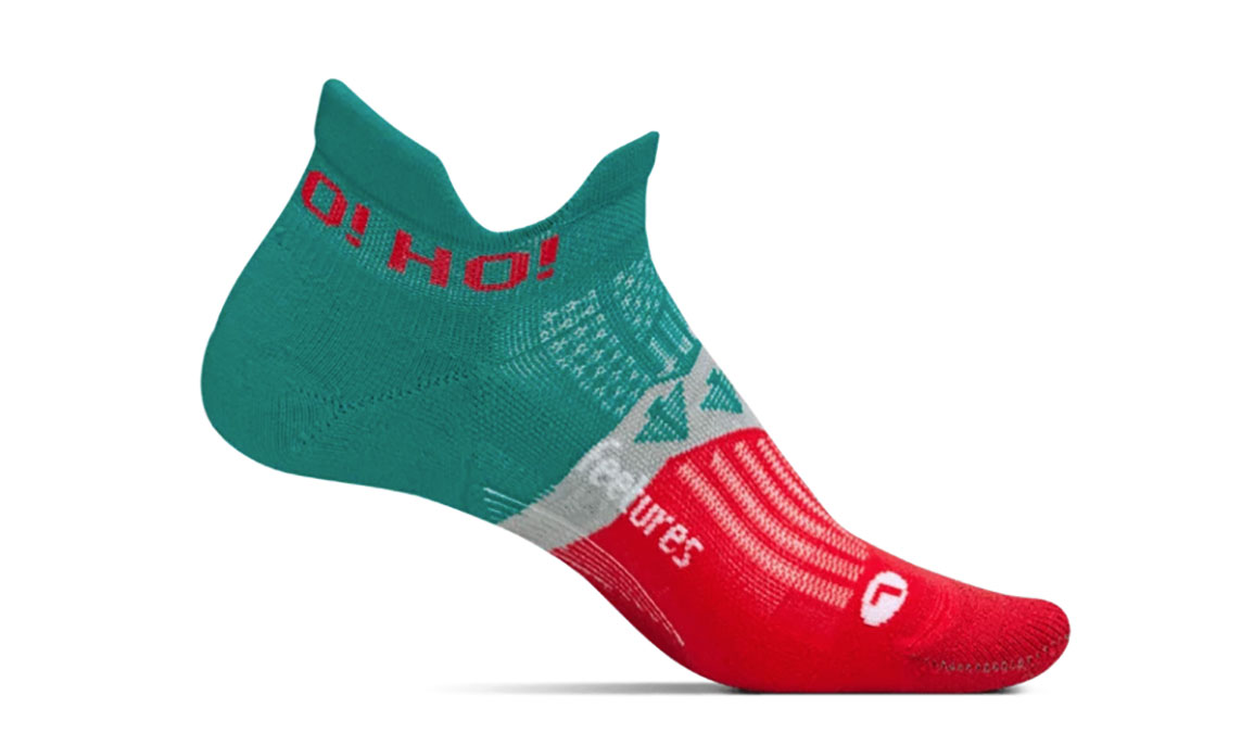 Feetures Holiday Elite Light Cushion - Color: Evergreen Size: M, Green/Red, large, image 1