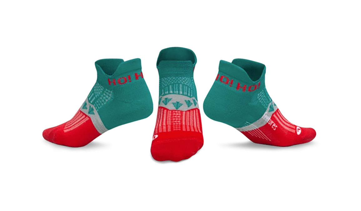Feetures Holiday Elite Light Cushion - Color: Evergreen Size: M, Green/Red, large, image 2