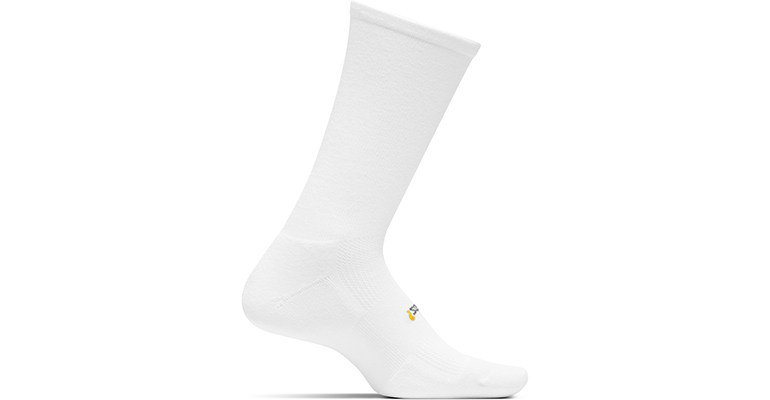 Feetures HP Cushion Crew Sock - Color: White - Size: L, White, large, image 1