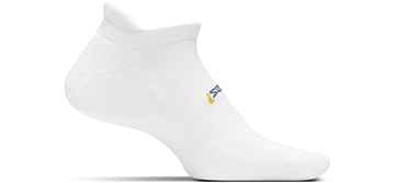 Feetures Light Cushion No Show Tab Sock - Color: White - Size: S, White, large, image 1