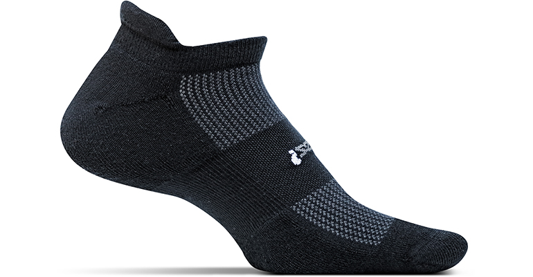 Feetures Light Cushion No Show Tab Sock - Color: Black - Size: L, Black, large, image 1