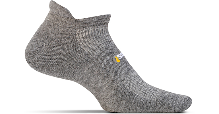 Feetures Light Cushion No Show Tab Sock - Color: Heather Grey - Size: M, Heather Grey, large, image 1