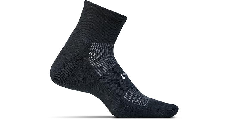Feetures HP Light Cushion Quarter Sock - Color: Black - Size: L, Black, large, image 1