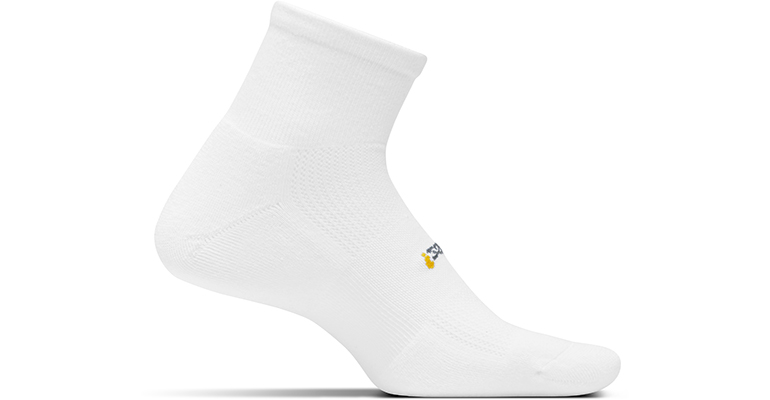 Feetures HP Light Cushion Quarter Sock - Color: White - Size: M, White, large, image 1