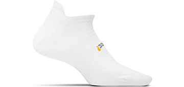 Unisex Feetures Hp Ultra Light No Show Tab Sock - Color: White - Size: L, White, large, image 1