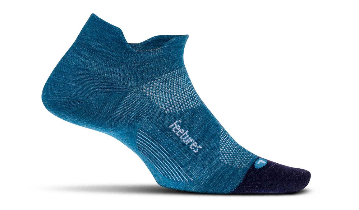 Feetures Merino 10 Ultra Light No Show Tab Socks - Color: Nebula Navy Size: L, Navy, large, image 1