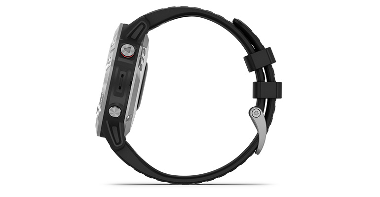 Garmin fenix 6 Multisport GPS Watch Base Model - Color: Silver with Black Band - Case Size: 47mm, Silver/Black Band, large, image 2