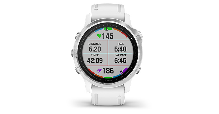 Garmin fenix 6S Multisport GPS Watch - Base Model - Color: Silver with White Band - Case Size: 42mm, Silver/White Band, large, image 6