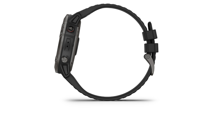 Unisex Garmin fenix 6X Multisport GPS Watch - Sapphire Model - Color: Carbon Grey DLC with Black Band - Case Size: 51mm, Carbon Grey DLC/Black Band, large, image 2