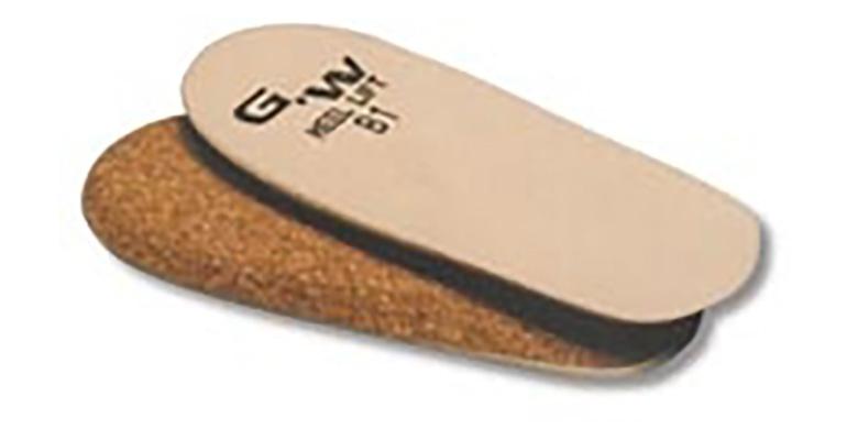 GW Heel Lift Cork Heel Lift (Single) - Color: Brown - Size: C2, Brown, large, image 1