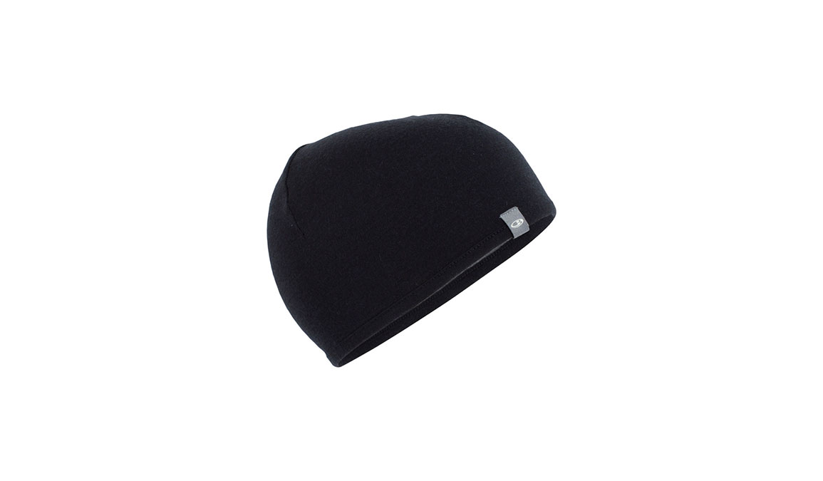 Unisex Icebreaker Pocket Hat  - Color: Black/Grey Size: OS, Black/Grey, large, image 1