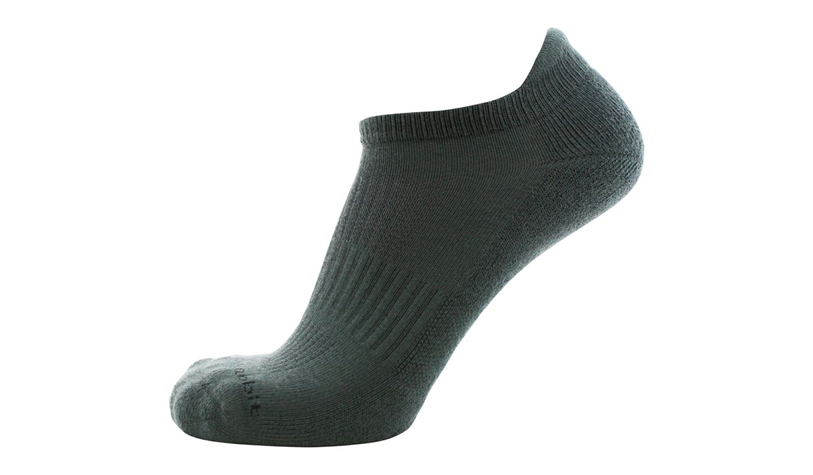 JackRabbit No Show Tab Cushion Socks 1 Pack - Color: Grey - Size: SM, Grey, large, image 2