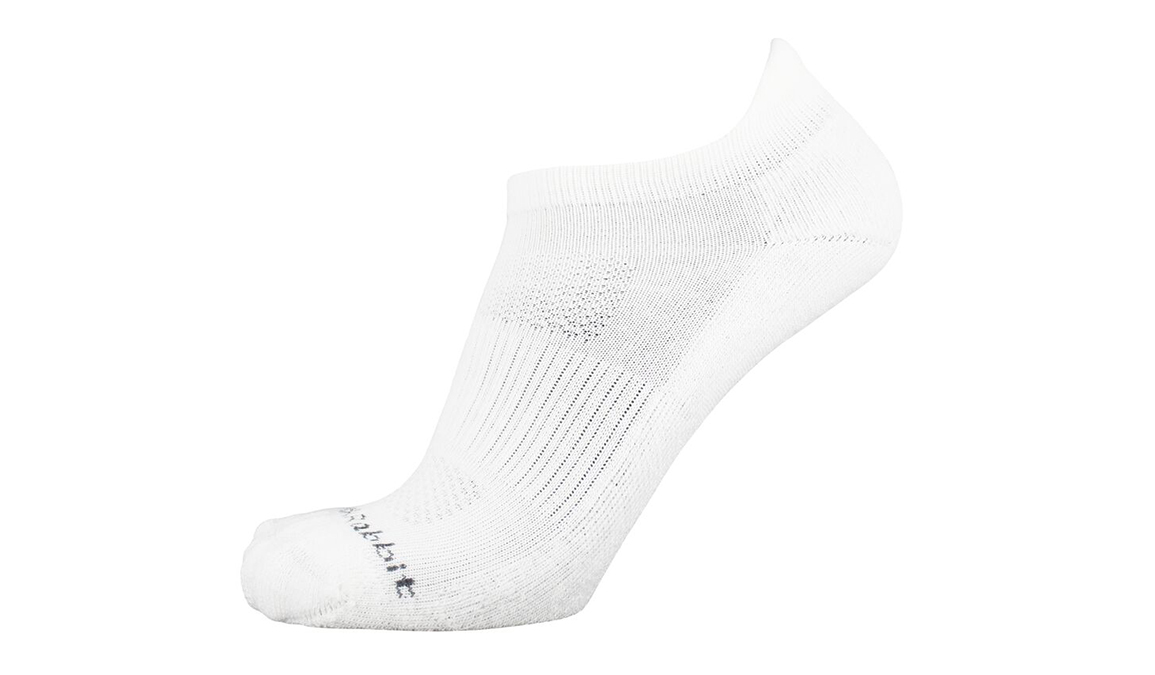 JackRabbit No Show Tab Cushion Running Sock - Color: White - Size: S, White, large, image 2